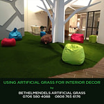 Artificial grass for interior decor