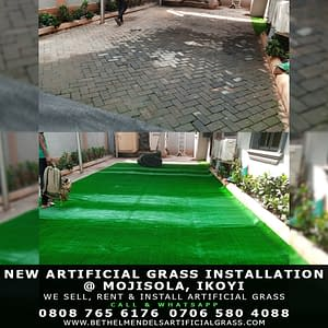 Installing 20mm Artificial Grass On Driveway.