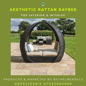 Aesthetic Rattan DayBed Furniture