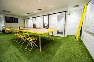 Artificial Grass Installation For Interior Decoration