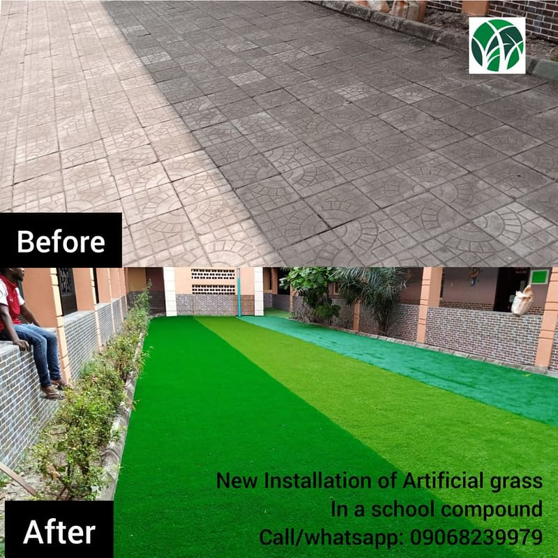 Laying Artificial Grass for school playground
