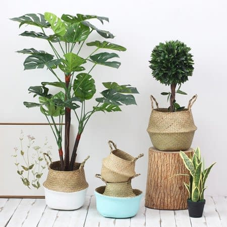 Read more about the article Seagrass Folding Handmade Storage Basket Decorative Rattan Plant Flower Pot
