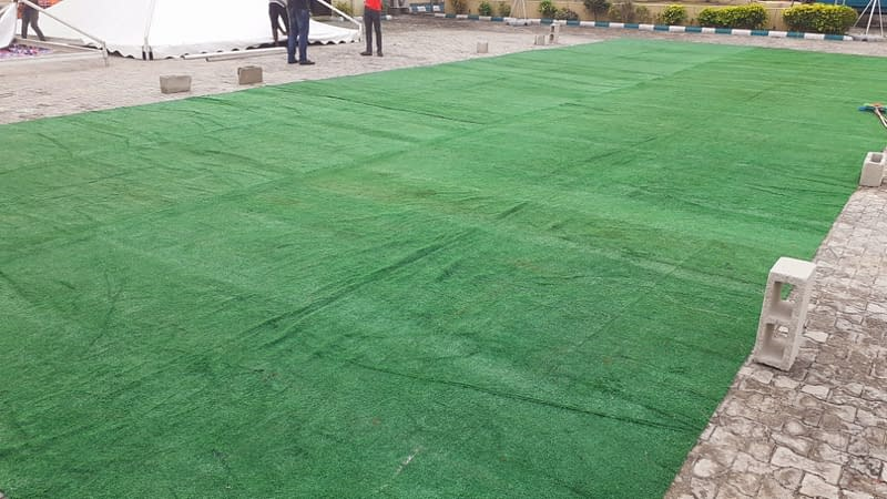 Landscape Design with artificial grass at brilla fm Lekki ...