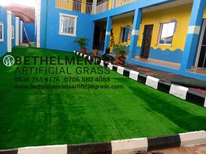 Artificial Grass Installation At Aginthy School, Akute, Lagos.