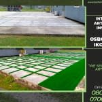 Artificial Grass Installation In October 2020