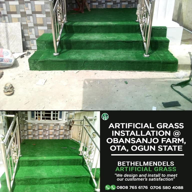 Artificial Grass Installation At Obasanjo Farm, Ota, Ogun State