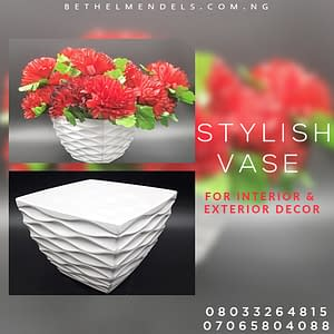 Read more about the article Red Artificial flower with A white Vase