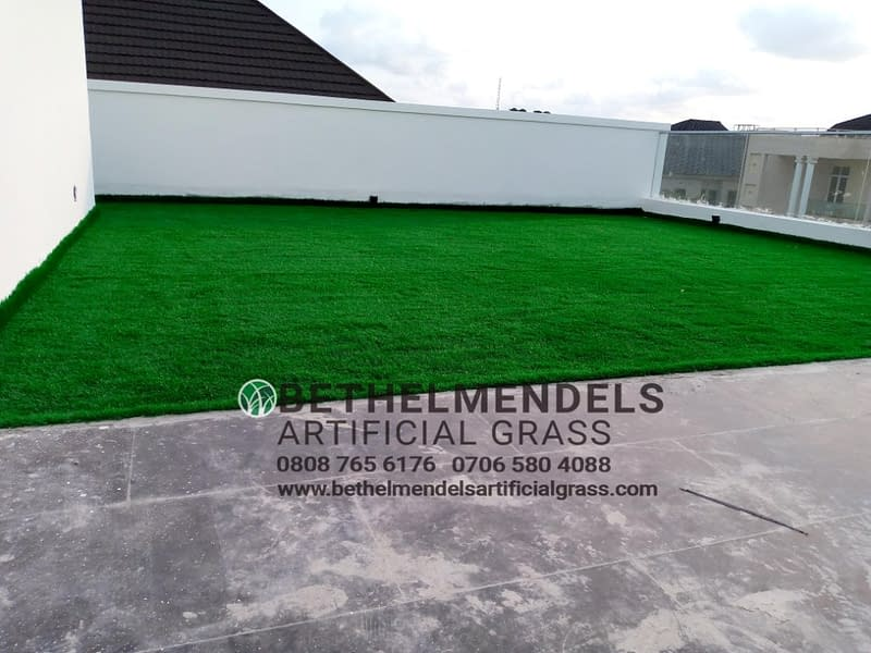 Artificial Grass Installation At Victory Park, Osapo London, Lekki Lagos