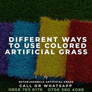 Different Ways to Use Colored Artificial Grass