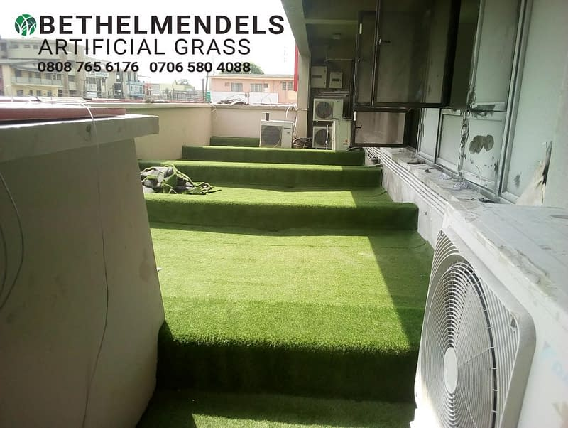 Artificial Grass decking Installation