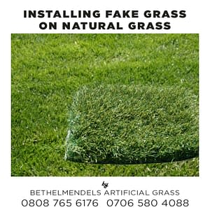Can I Install Fake Grass on Natural Grass