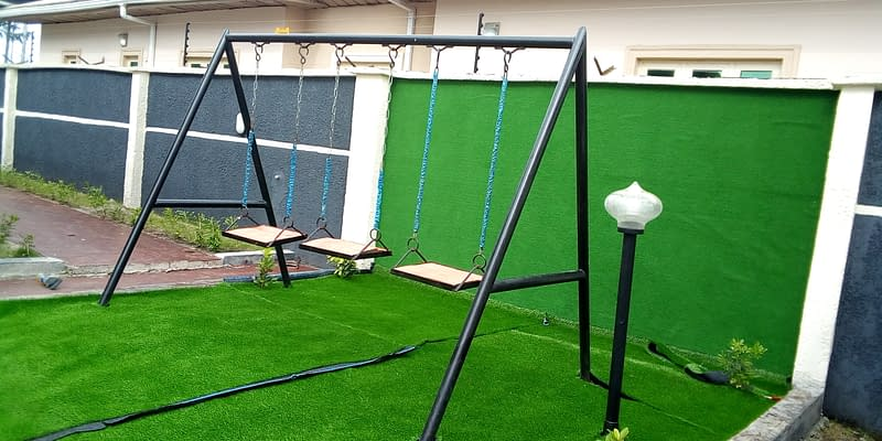 Artificial Grass Installation For Play Ground