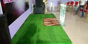 Artificial Carpet Grass Indoor Installation At Lekki Lagos