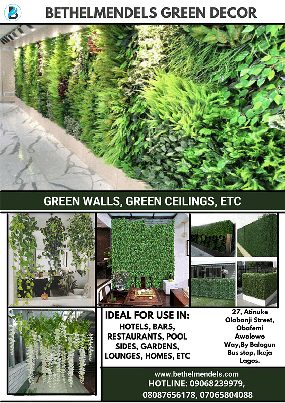 Green wall Decor