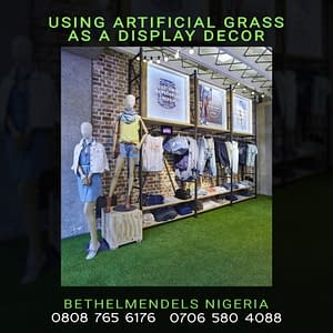 Artificial Grass As A Display Decoration Piece