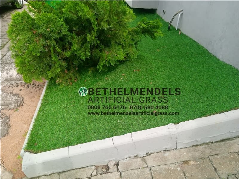 Artificial Grass Installed at Lekki County, Lagos
