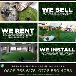 Artificial Grass Decking Installation At Opebi, Ikeja Lagos