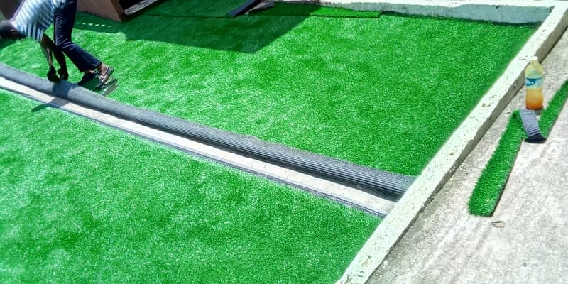 Exterior/ Compound Decoration With Turf/Grass At Ejigbo Lagos